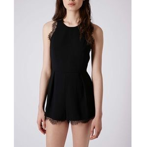 Topshop Romper With Lace Trim Size 12 US